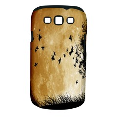 Birds Sky Planet Moon Shadow Samsung Galaxy S III Classic Hardshell Case (PC+Silicone)