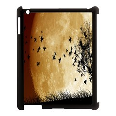 Birds Sky Planet Moon Shadow Apple iPad 3/4 Case (Black)