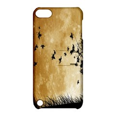 Birds Sky Planet Moon Shadow Apple iPod Touch 5 Hardshell Case with Stand