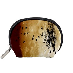 Birds Sky Planet Moon Shadow Accessory Pouches (small)