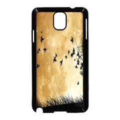 Birds Sky Planet Moon Shadow Samsung Galaxy Note 3 Neo Hardshell Case (black)