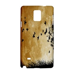 Birds Sky Planet Moon Shadow Samsung Galaxy Note 4 Hardshell Case