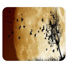 Birds Sky Planet Moon Shadow Double Sided Flano Blanket (Small)
