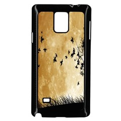Birds Sky Planet Moon Shadow Samsung Galaxy Note 4 Case (black)