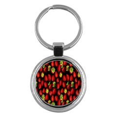 Berry Strawberry Many Key Chains (Round)