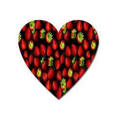 Berry Strawberry Many Heart Magnet
