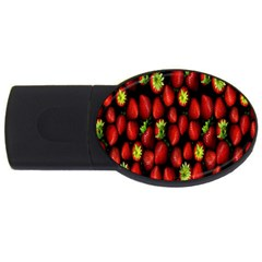 Berry Strawberry Many USB Flash Drive Oval (1 GB)