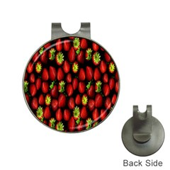 Berry Strawberry Many Hat Clips With Golf Markers