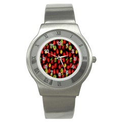 Berry Strawberry Many Stainless Steel Watch