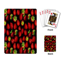 Berry Strawberry Many Playing Card
