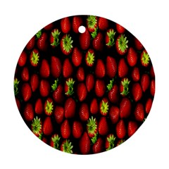 Berry Strawberry Many Round Ornament (Two Sides)