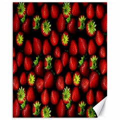 Berry Strawberry Many Canvas 16  X 20