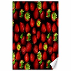 Berry Strawberry Many Canvas 24  X 36