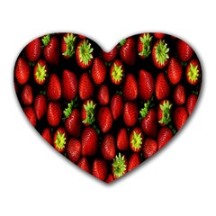Berry Strawberry Many Heart Mousepads