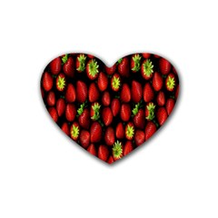 Berry Strawberry Many Heart Coaster (4 Pack)