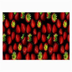 Berry Strawberry Many Large Glasses Cloth