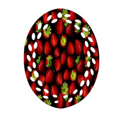 Berry Strawberry Many Ornament (Oval Filigree)