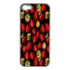 Berry Strawberry Many Apple iPhone 5 Case (Silver)