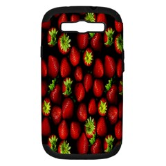 Berry Strawberry Many Samsung Galaxy S III Hardshell Case (PC+Silicone)