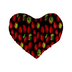 Berry Strawberry Many Standard 16  Premium Heart Shape Cushions