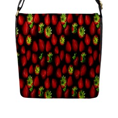 Berry Strawberry Many Flap Messenger Bag (L)