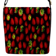 Berry Strawberry Many Flap Messenger Bag (S)