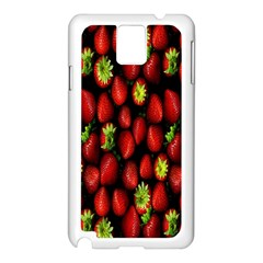 Berry Strawberry Many Samsung Galaxy Note 3 N9005 Case (White)