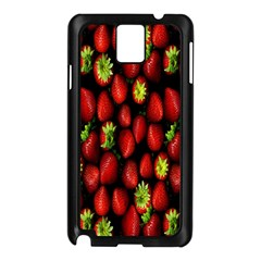 Berry Strawberry Many Samsung Galaxy Note 3 N9005 Case (Black)