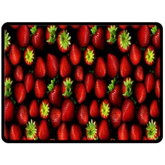 Berry Strawberry Many Double Sided Fleece Blanket (Large)