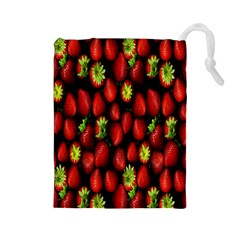 Berry Strawberry Many Drawstring Pouches (Large)
