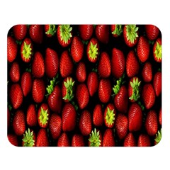Berry Strawberry Many Double Sided Flano Blanket (Large)
