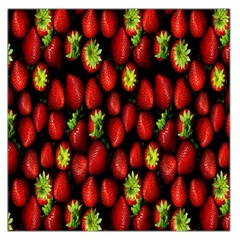 Berry Strawberry Many Large Satin Scarf (square)