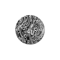 Black White Pattern Shape Patterns Golf Ball Marker