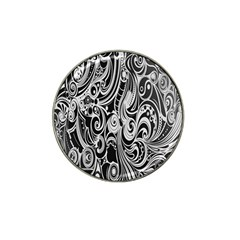 Black White Pattern Shape Patterns Hat Clip Ball Marker (10 Pack)