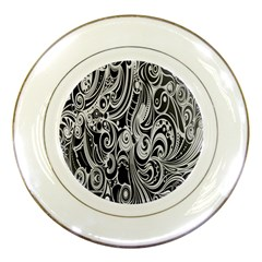 Black White Pattern Shape Patterns Porcelain Plates