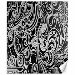 Black White Pattern Shape Patterns Canvas 8  x 10
