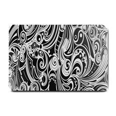 Black White Pattern Shape Patterns Small Doormat