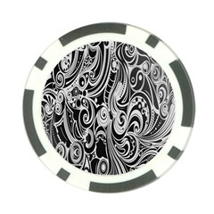 Black White Pattern Shape Patterns Poker Chip Card Guard (10 pack)