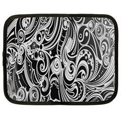 Black White Pattern Shape Patterns Netbook Case (xxl)