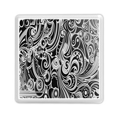 Black White Pattern Shape Patterns Memory Card Reader (Square)