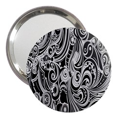 Black White Pattern Shape Patterns 3  Handbag Mirrors