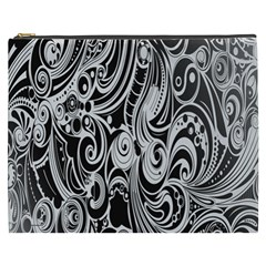 Black White Pattern Shape Patterns Cosmetic Bag (xxxl)