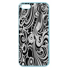 Black White Pattern Shape Patterns Apple Seamless iPhone 5 Case (Color)