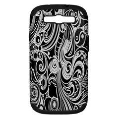 Black White Pattern Shape Patterns Samsung Galaxy S III Hardshell Case (PC+Silicone)