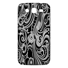 Black White Pattern Shape Patterns Samsung Galaxy Mega 5.8 I9152 Hardshell Case