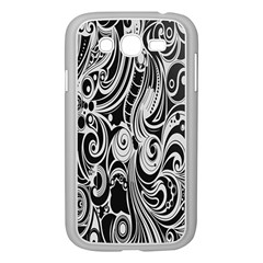 Black White Pattern Shape Patterns Samsung Galaxy Grand DUOS I9082 Case (White)