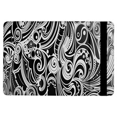 Black White Pattern Shape Patterns iPad Air Flip
