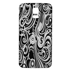 Black White Pattern Shape Patterns Samsung Galaxy S5 Back Case (White)