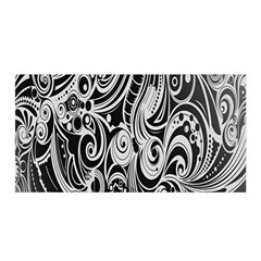 Black White Pattern Shape Patterns Satin Wrap