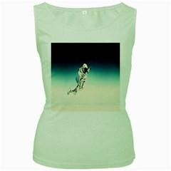 astronaut Women s Green Tank Top